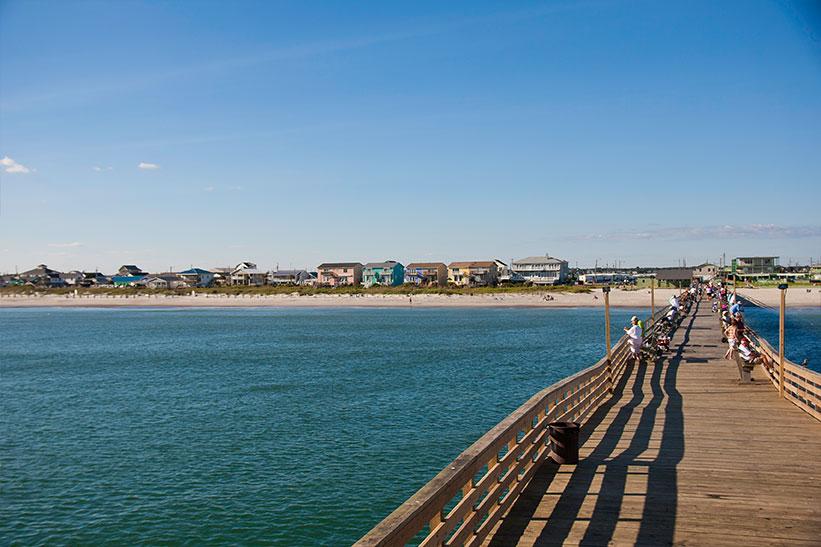 Toss a line from Atlantic Beach's only ocean fishing pier
