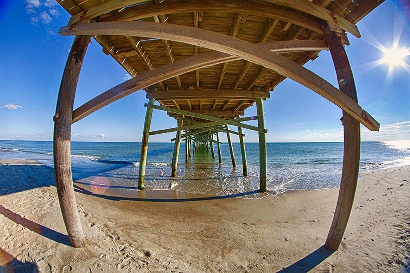 Under Oceanana Pier.jpg Atlantic Beach has easy access to one of North Carolina's best beaches