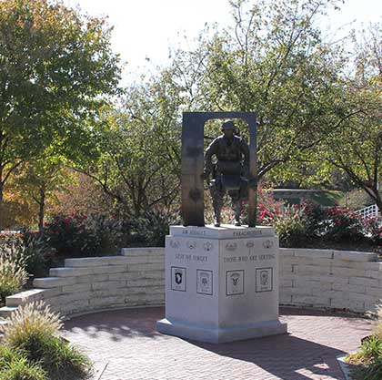 Military statue at Memorial Park in Omaha