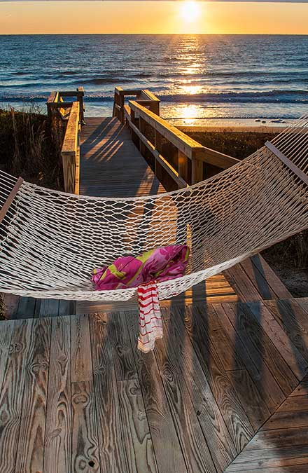 Spend time lounging in one of Liberty Lodge's two hammocks, which have a great view of the ocean
