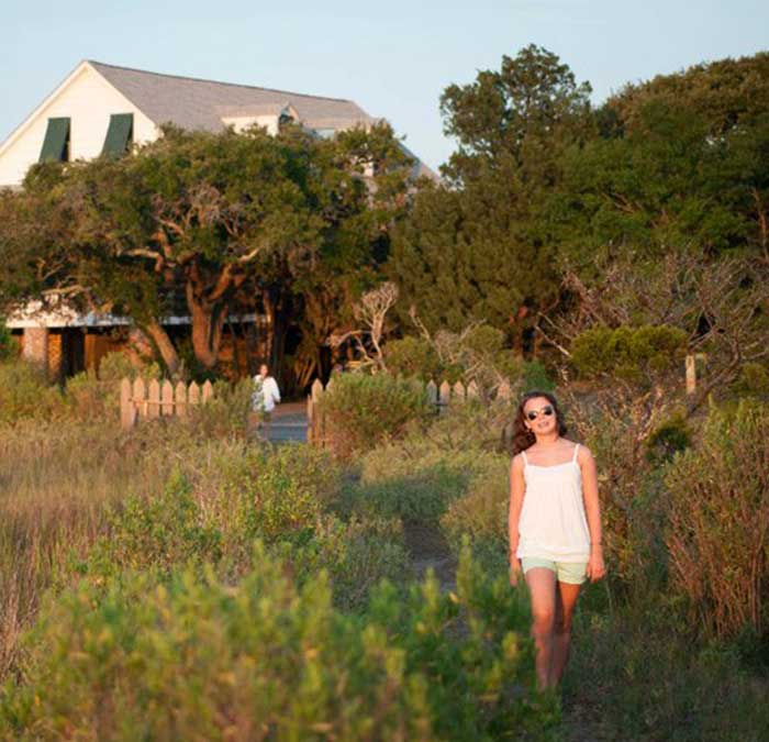 alk through tall grasses from Liberty Lodge in Pawleys Island, straight to the beach