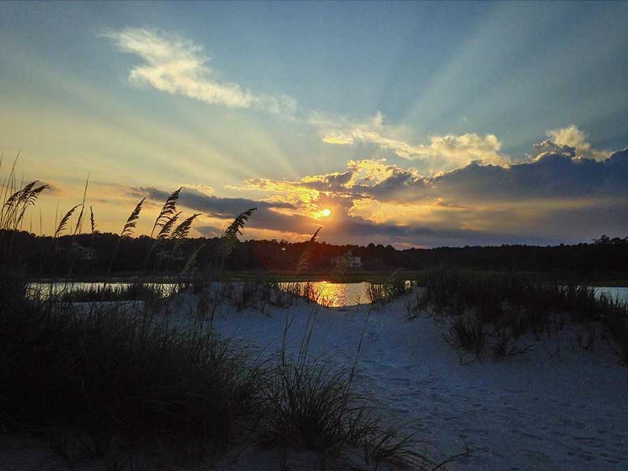 Check your phone for when sunset at Pawleys Island Creek happens-you don't want to miss it