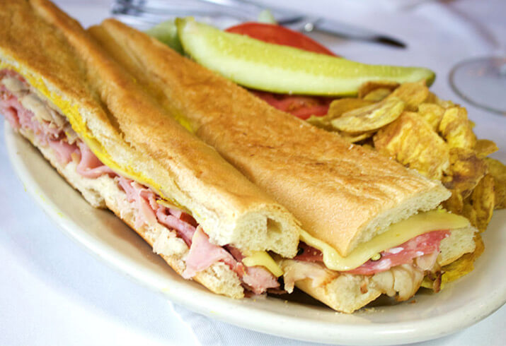 Grab a Cuban sandwich at the Columbia Cafe in the Florida Aquarium