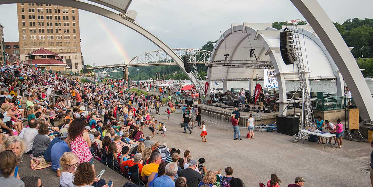 Live on the Levee riverfront stage in Charleston, West Virginia