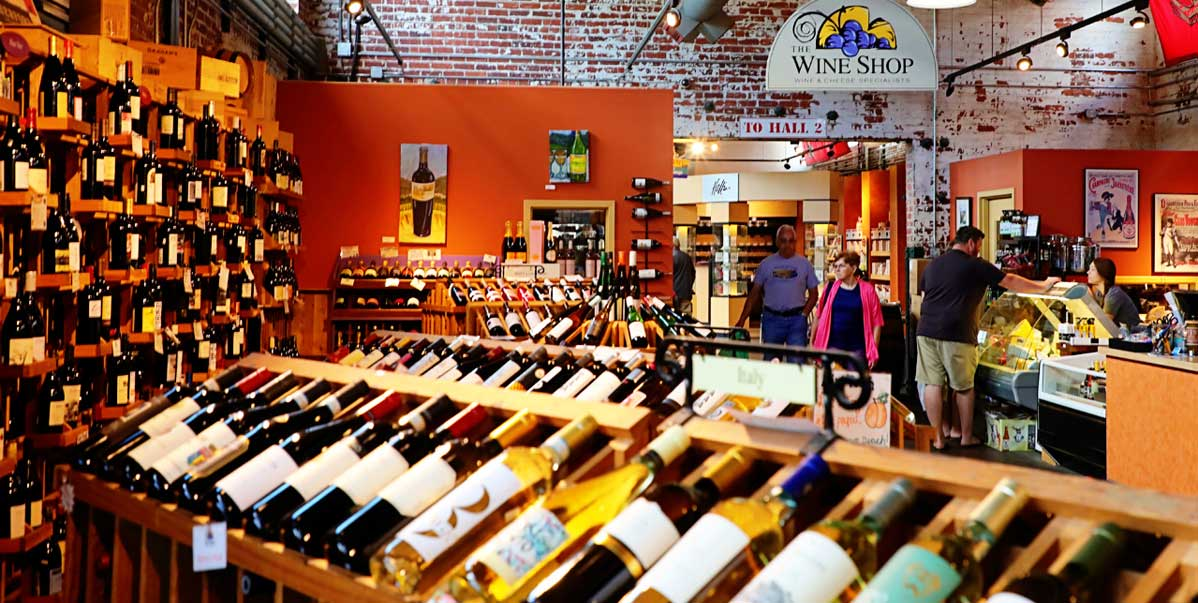 Inside The Wine Shop in Charleston, West Virginia