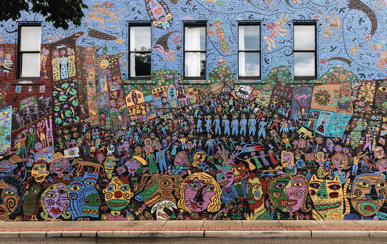 Charleston, West Virginia's West Side Wonder Mural by Jupiter Hamilton