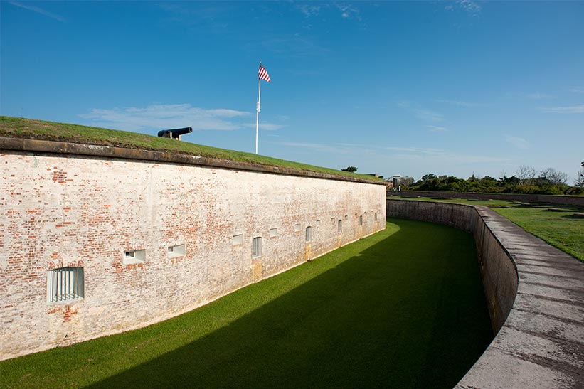 Fort Macon State Park, on North Carolina's Crystal Coast, offers tours.