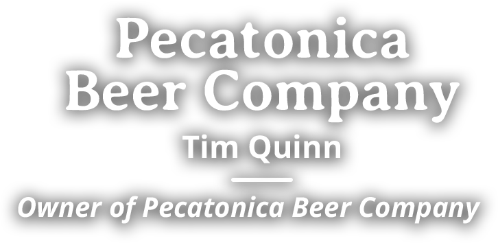 Pecatonica Beer Company Tim Quinn, owner of Pecatonica Beer Compan
