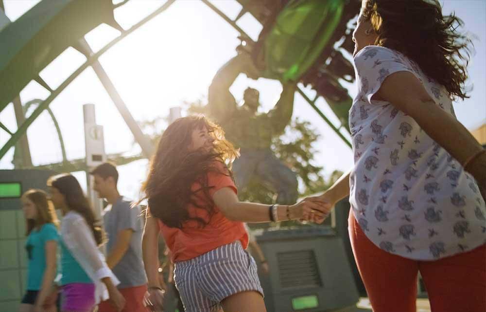 The Incredible Hulk Coaster at Islands of Adventure near Kissimmee, Florida