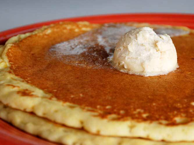 A pancake from Market Street Café in Kissimmee, Florida