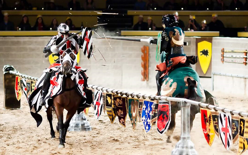 Jousting at Medieval Times in Kissimmee, Florida