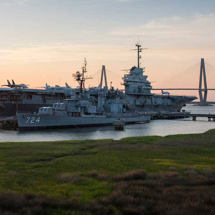 The USS Yorktown in Mount Pleasant, South Carolina