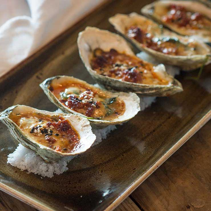 A plate of oysters at Tavern & Table in Mount Pleasant, South Carolina