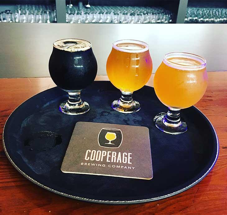 Tastings at Cooperage Brewing Company in Santa Rosa, California