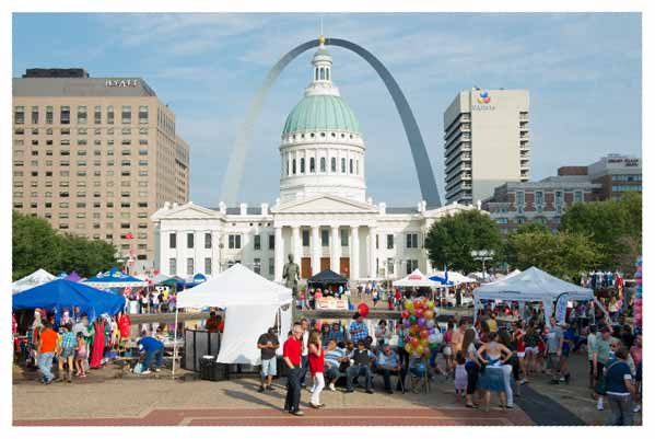 The Greater St. Louis Hispanic Festival in St. Louis, Missouri draws a big crowd