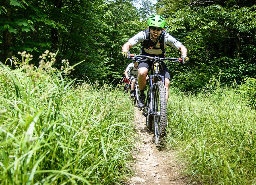 Mountain bike in Stowe, Vermont