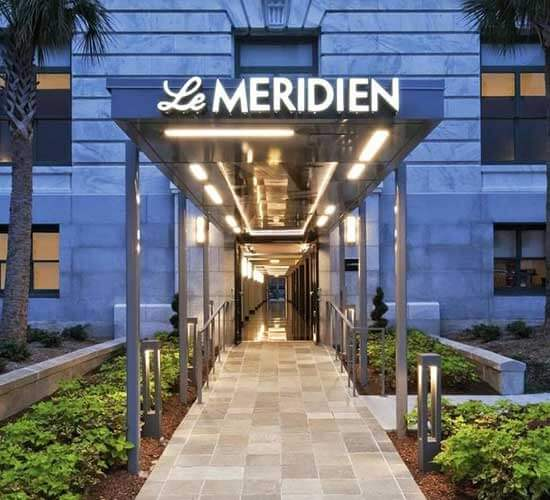Entrance to Le Méridien Tampa, in Florida