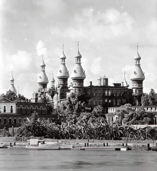 Minarets rise from Henry B. Plant Museum at University of Tampa in Florida