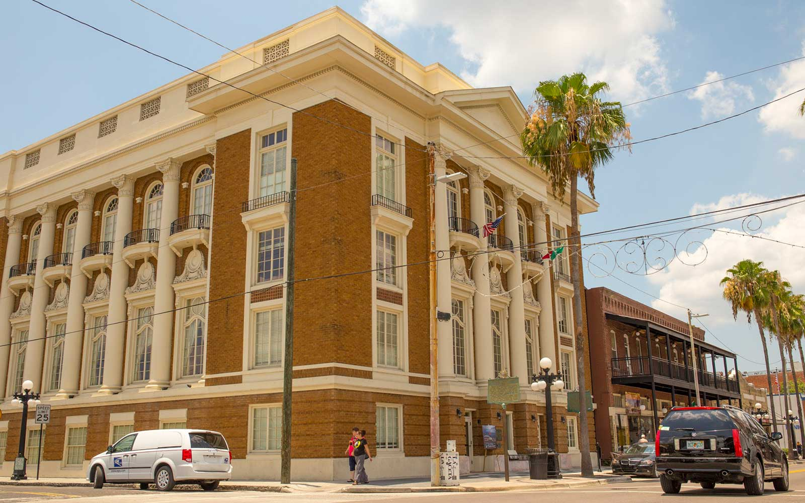 Ybor City's historic buildings in Tampa, Florida