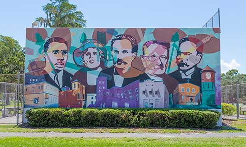 Mural in Tampa Bay, Florida