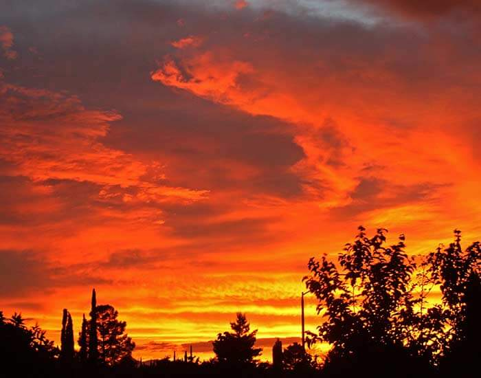 An Arizona sunset in Sierra Vista, AZ