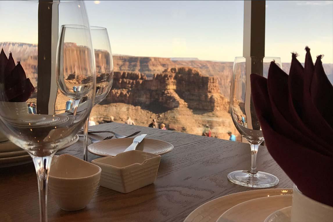 View Of The Grand Canyon From A Prepared Table At Sa Nyu Wa Restaurant