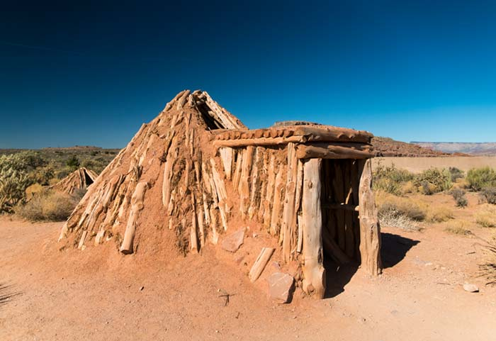 Wikiup dwelling at Grand Canyon National Park's west rim.