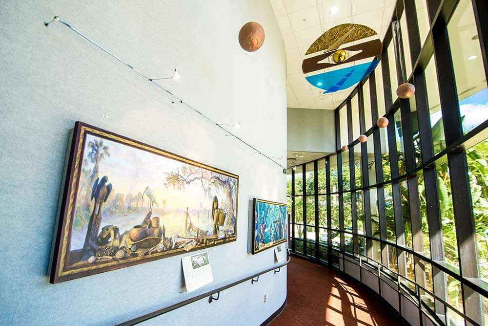 Art on display at the Museum of Florida Art and Culture on the campus of South Florida State College in Avon Park, FL