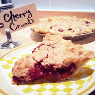 Cherry Crumb pie
