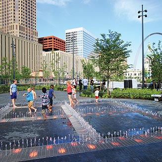 Kiener Plaza, Courtesy Gateway Arch Park Foundation