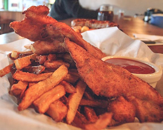 Fish n chips from a Seaside, Oregon, restaurant