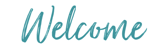 Welcome written in cursive letters.