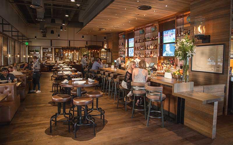 A restaurant at the Omni Frisco Hotel near the Star in Frisco, Texas
