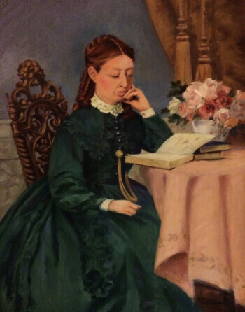 A portrait of Sophia Vaile that hangs in the Vaile Mansion in Independence, MO