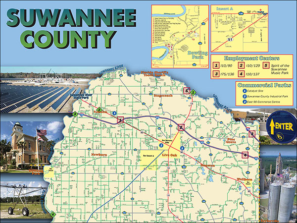 Suwannee county map