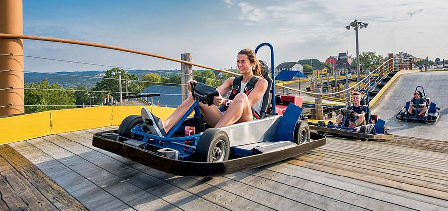 The Skyscraper Ride at The Tracks Family Fun Park in Branson, MO