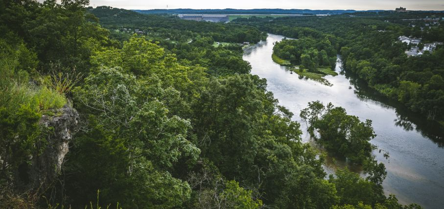 Branson is surrounded by lush forests and breathtaking views