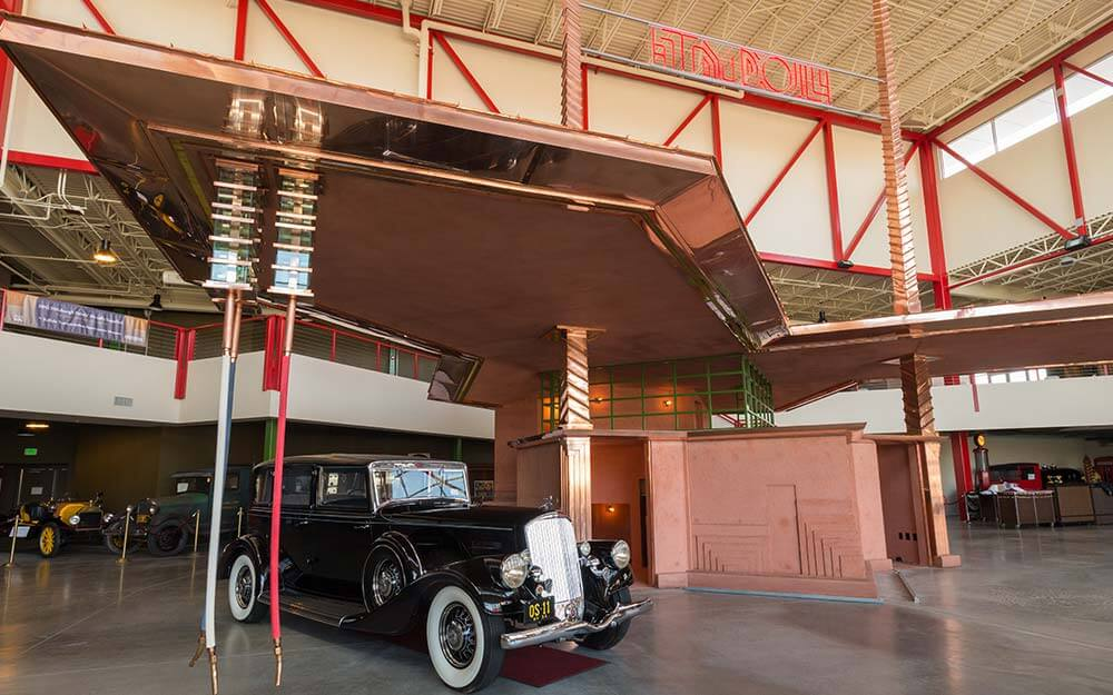The Frank Lloyd Wright Filling Station was one of three of the architect's designs  built posthumously in Buffalo.