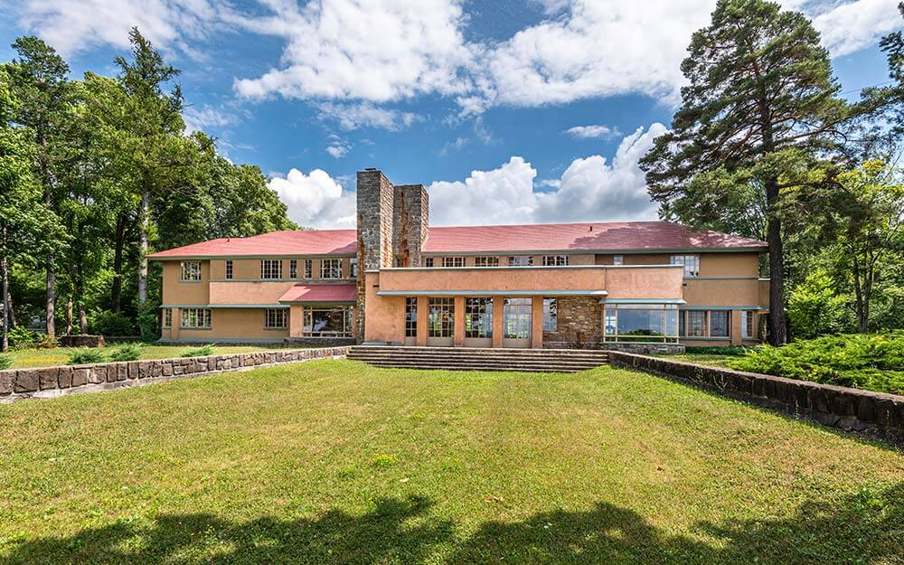 Frank Lloyd Wright's Graycliff Estate in Derby originally functioned as a summer home for the Martin family of Buffalo.