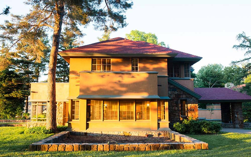 Frank Lloyd Wright's Graycliff Estate recently completed a multi-decade restoration that brought the property back to its original grandeur.
