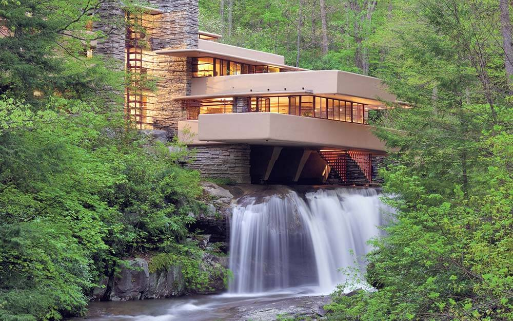 Frank Lloyd Wright's Fallingwater, which Wright designed over a waterfall in Western Pennsylvania,  has been named a UNESCO World Heritage site.