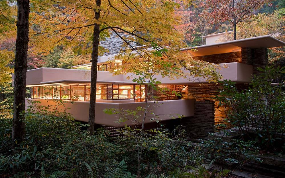 Designed in 1935, Frank Lloyd Wright's Fallingwater is one of the architect's most acclaimed works.