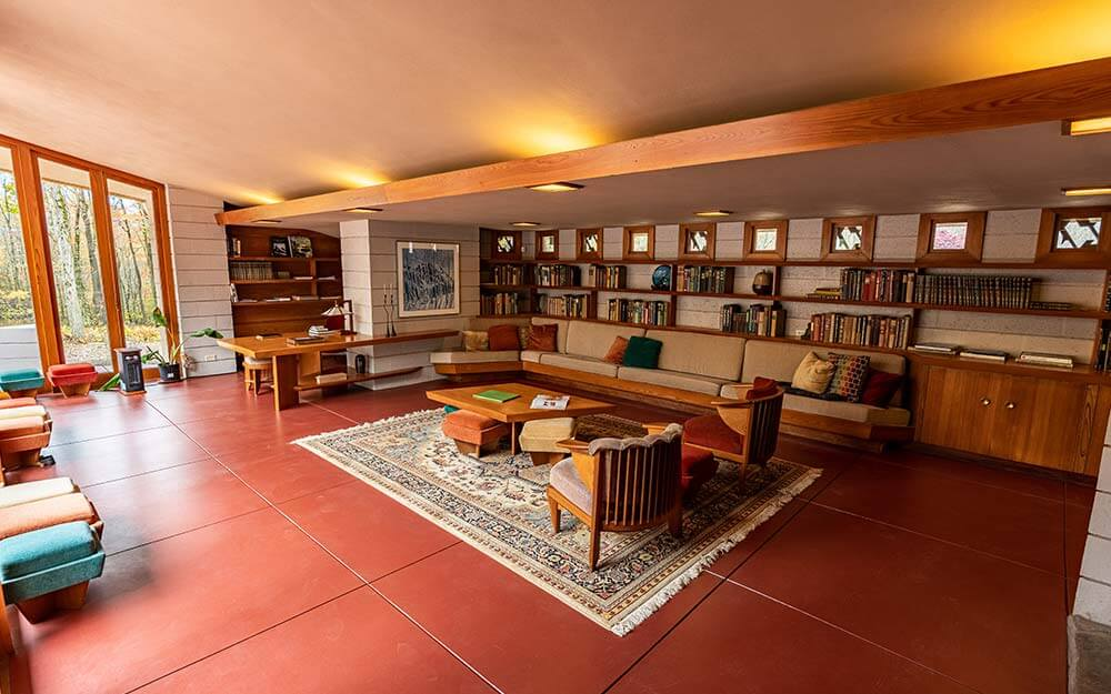 The Frank Lloyd Wright designed homes at Polymath Park in Pennsylvania afford visitors the opportunity to stay overnight.