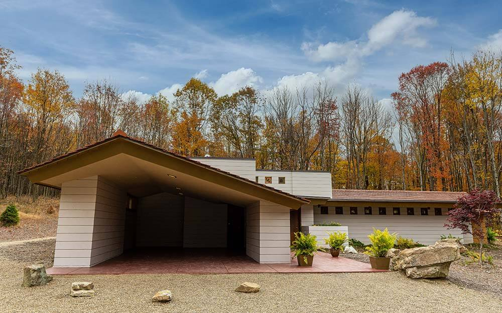 The Frank Lloyd Wright designed homes at Polymath Park are set within an extraordinary 125-acre natural setting in Western Pennsylvania.