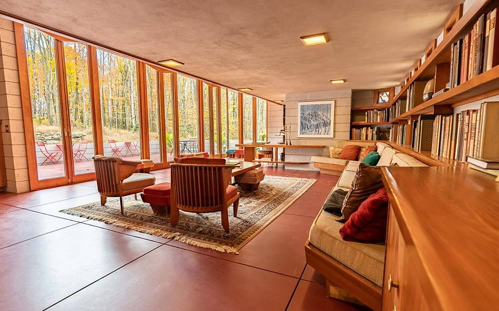 Frank Lloyd Wright's Mantyla House, pictured here, was initially built in Minnesota before being moved to Polymath Park in Pennsylvania.