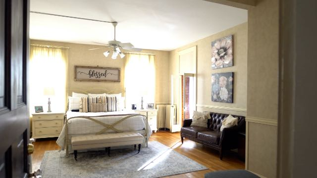 The Newell's master bedroom in  St. Joseph, MO