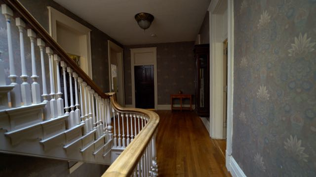 The landing to the second floor inside the Newell's house in St. Joseph, MO.